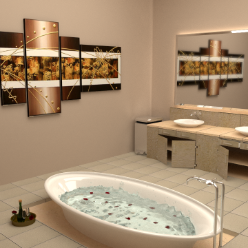 Modélisation et animation 3D d'une grande salle de bain – Tutorial