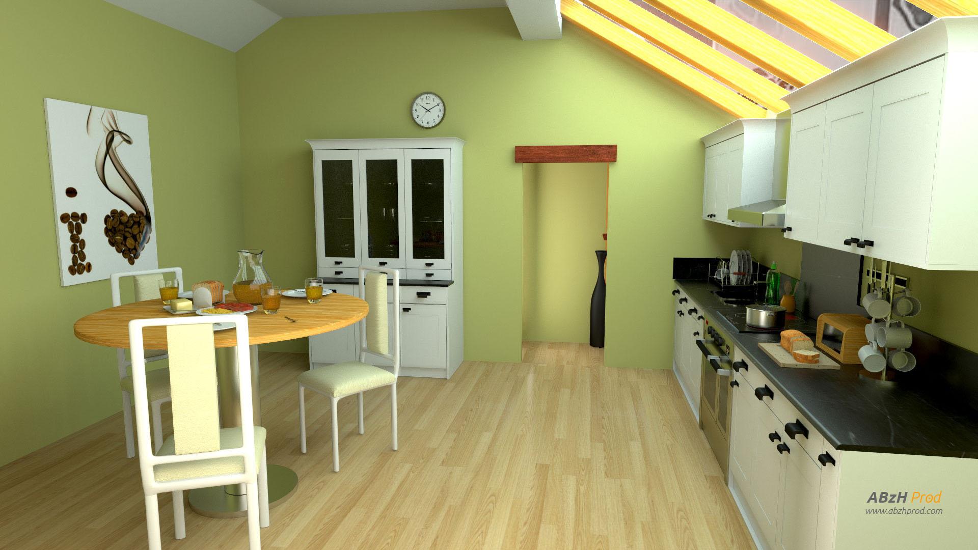 Mod lisation et animation 3d d 39 une cuisine tutorial for Modelisation cuisine 3d