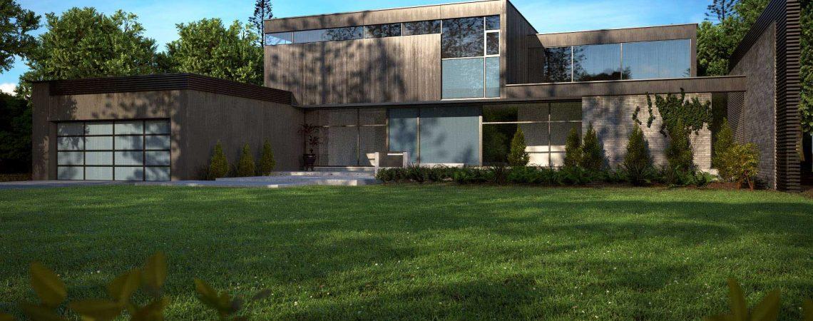 Modélisation et animation d'une maison moderne design en 3D - Architecture et Immobilier - ABzH Prod - 3D photoréaliste - Infographiste 3D