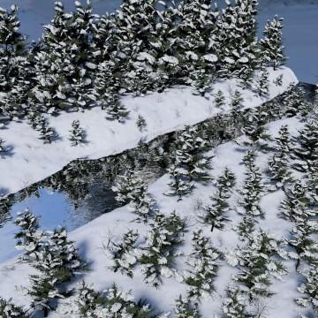 Modélisation et animation 3D d'une rivière en hiver – Tutorial