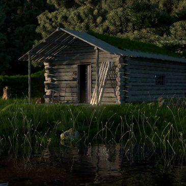 Modélisation et animation 3D d'une cabane en forêt – Tutorial