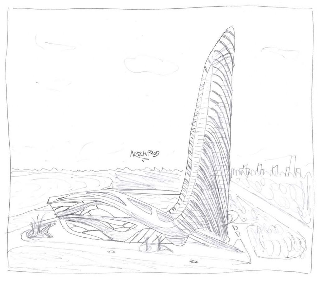 Modélisation 3D Wavy Hôtel - Draft - Architecture et nature - ABzH Prod - Animation 3D photoréaliste - Infographiste 3D Freelance