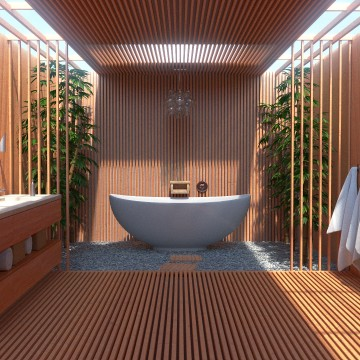 Modélisation et animation 3D d'une salle de bain zen moderne – Tutorial