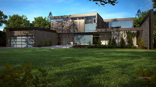 Maison Moderne Fin - ABzH Prod