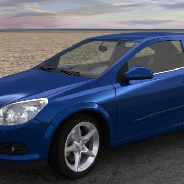 Modélisation et animation 3D Opel Astra GTC – Rigging et Drifting – Tutorial
