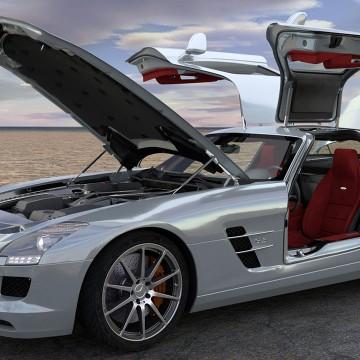 Modélisation et animation 3D Mercedes SLS AMG – Rigging et Drifting – Tutorial