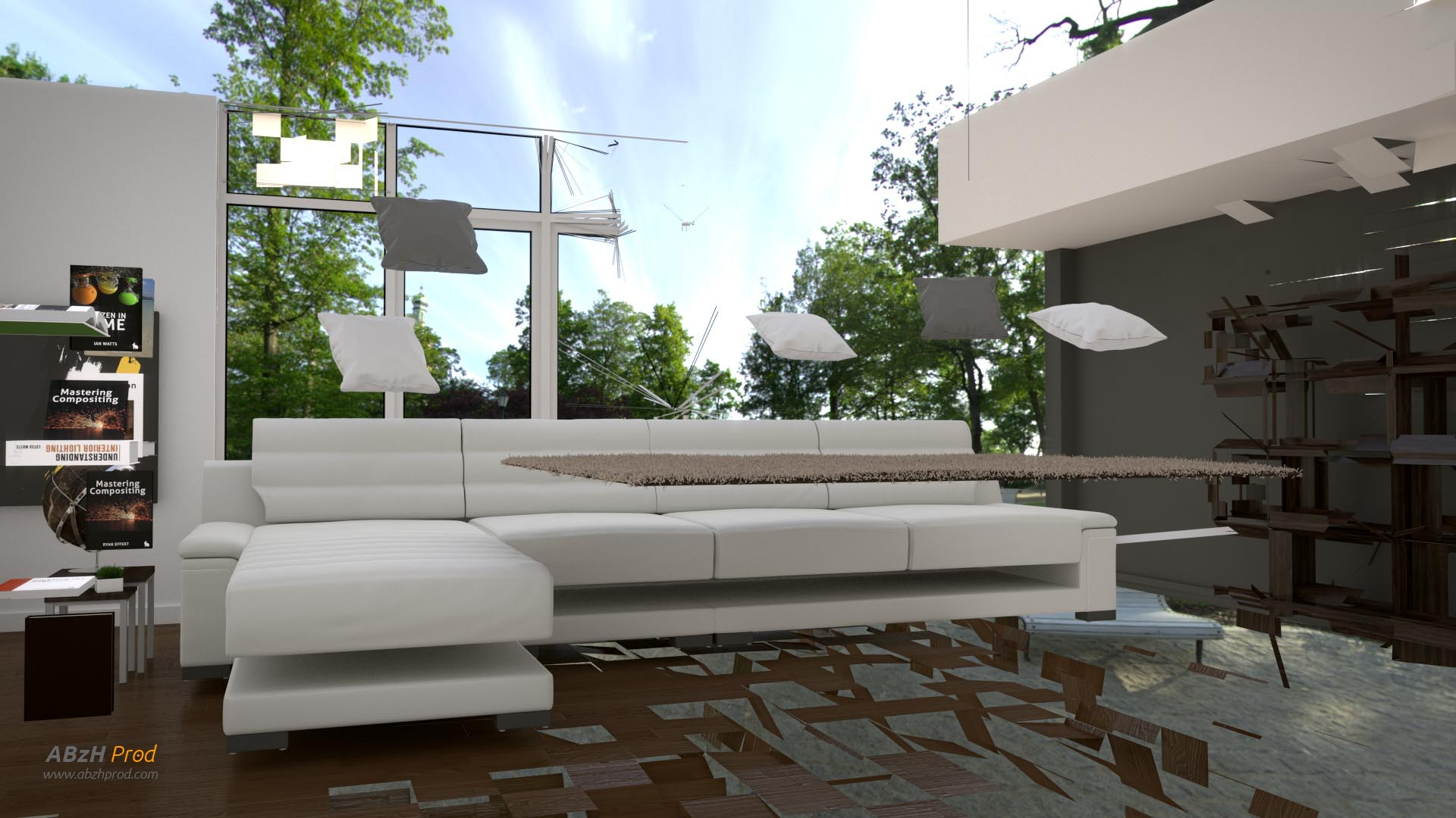 The gallery for blender 3d architecture for Salon zen casablanca