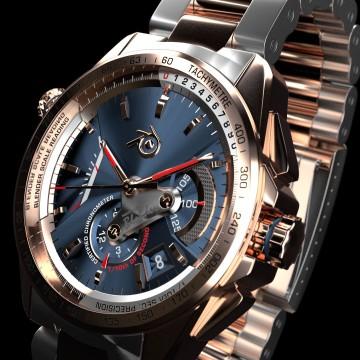 Chronographe 3D – Montre de luxe – Tutorial