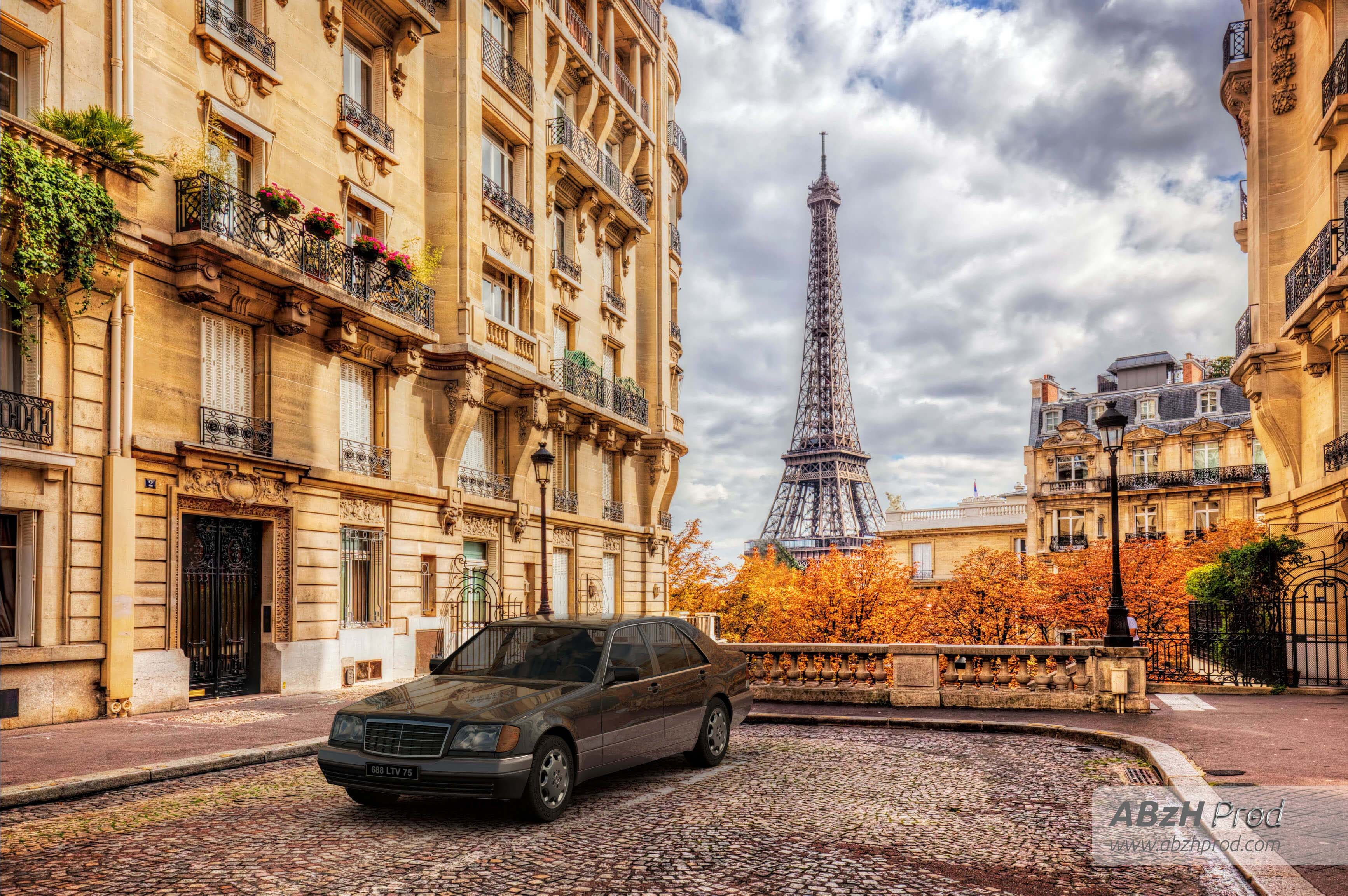 Mercedes S280 M6 Diana Paris Breakdown Tutorial - Animation vidéo 3D photoréaliste - Infographiste 3D Freelance - ABzHProd